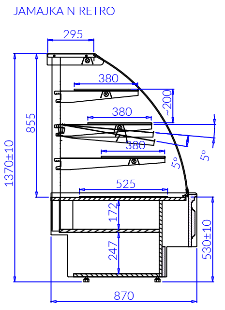Technical drawing JAMAJKA N MOD RETRO