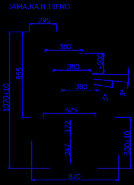 Technical drawing JAMAJKA N MOD TREND