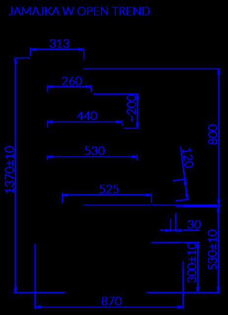 Technical drawing JAMAJKA W OPEN TREND