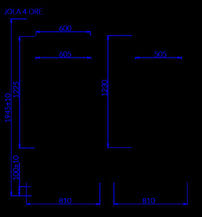 Technical drawing JOLA 4 DRE