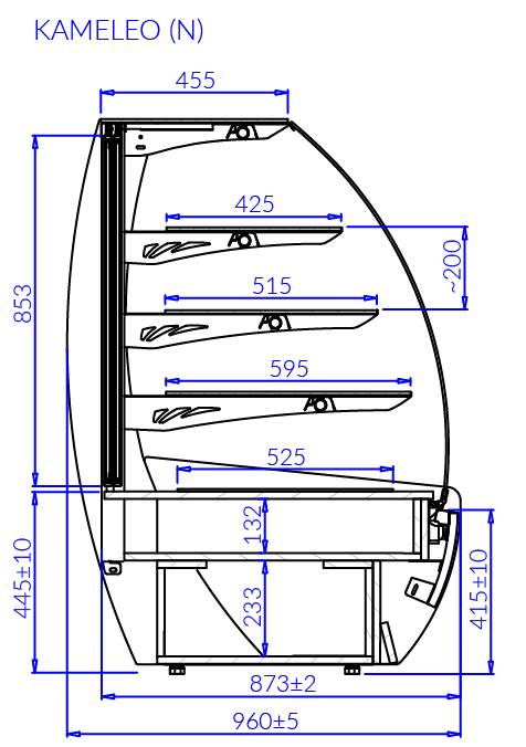 Technical drawing KAMELEO (N)-MOD KAMELEO N MOD