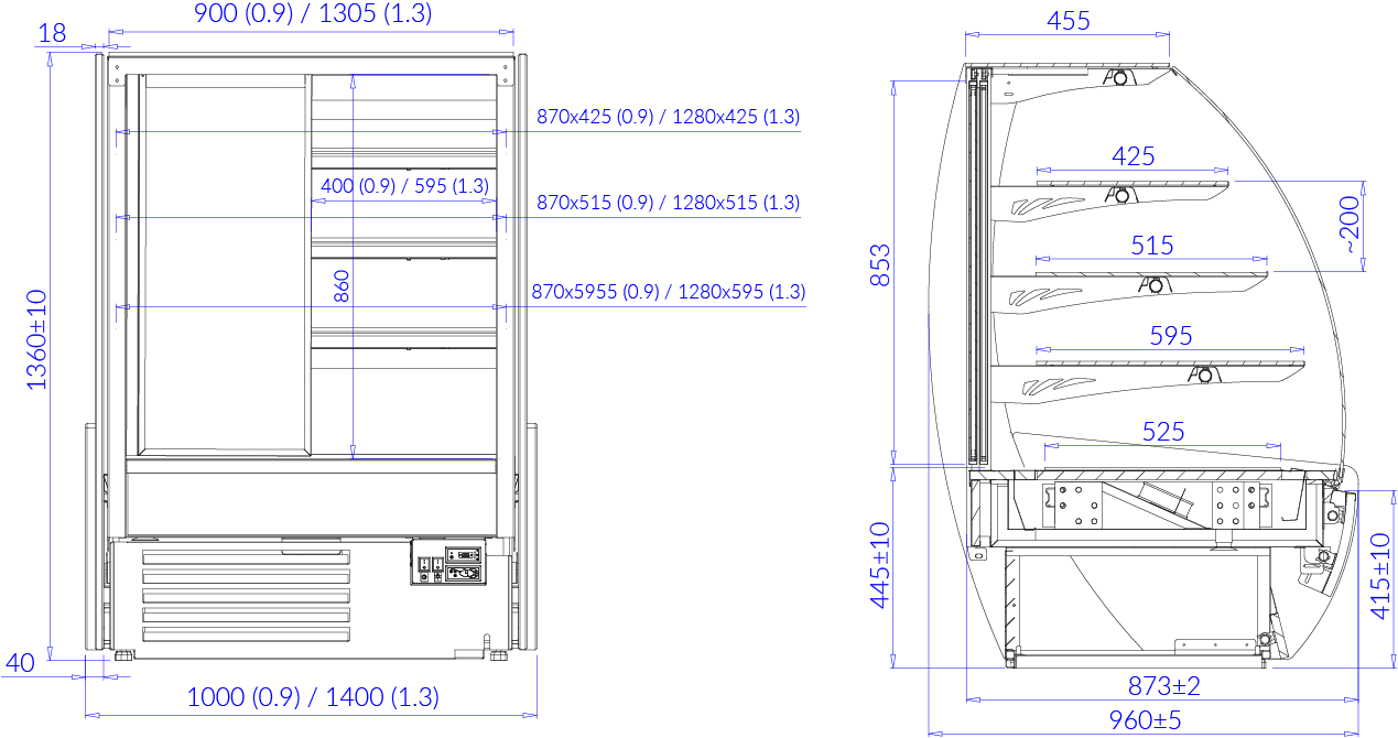 Technical drawing KAMELEO W MOD C