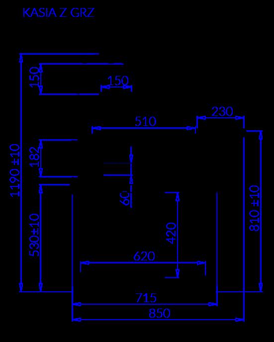 Technical drawing KASIA Z GRZ KASIA Z GRZ