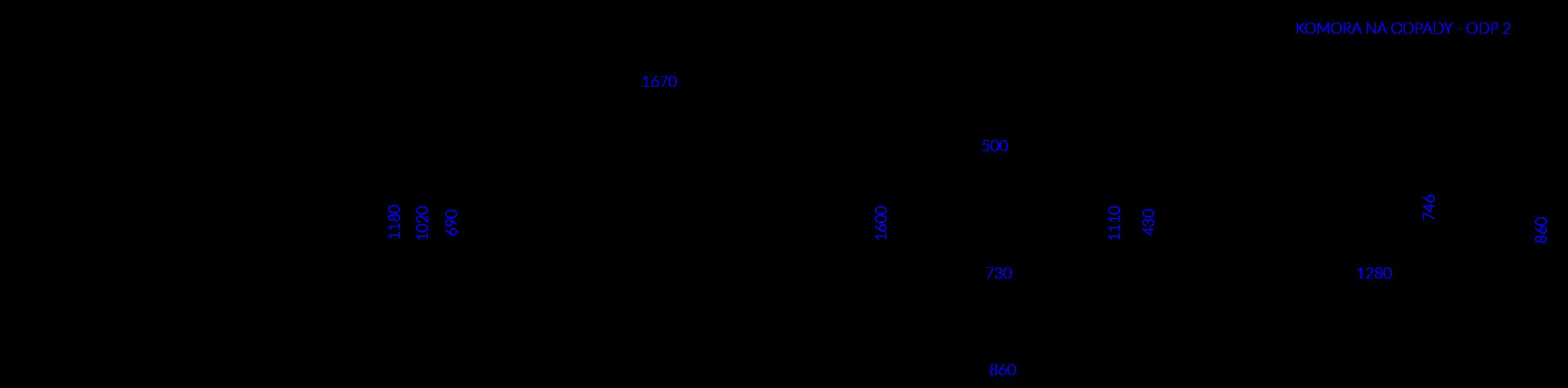 Technical drawing KOMORA ODP 2