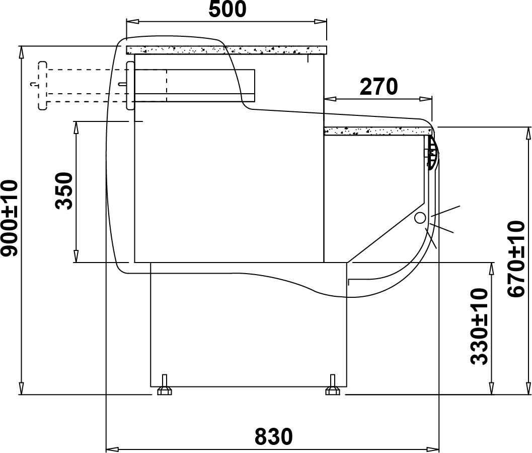Technical drawing Monika 2 LADA MONIKA 2