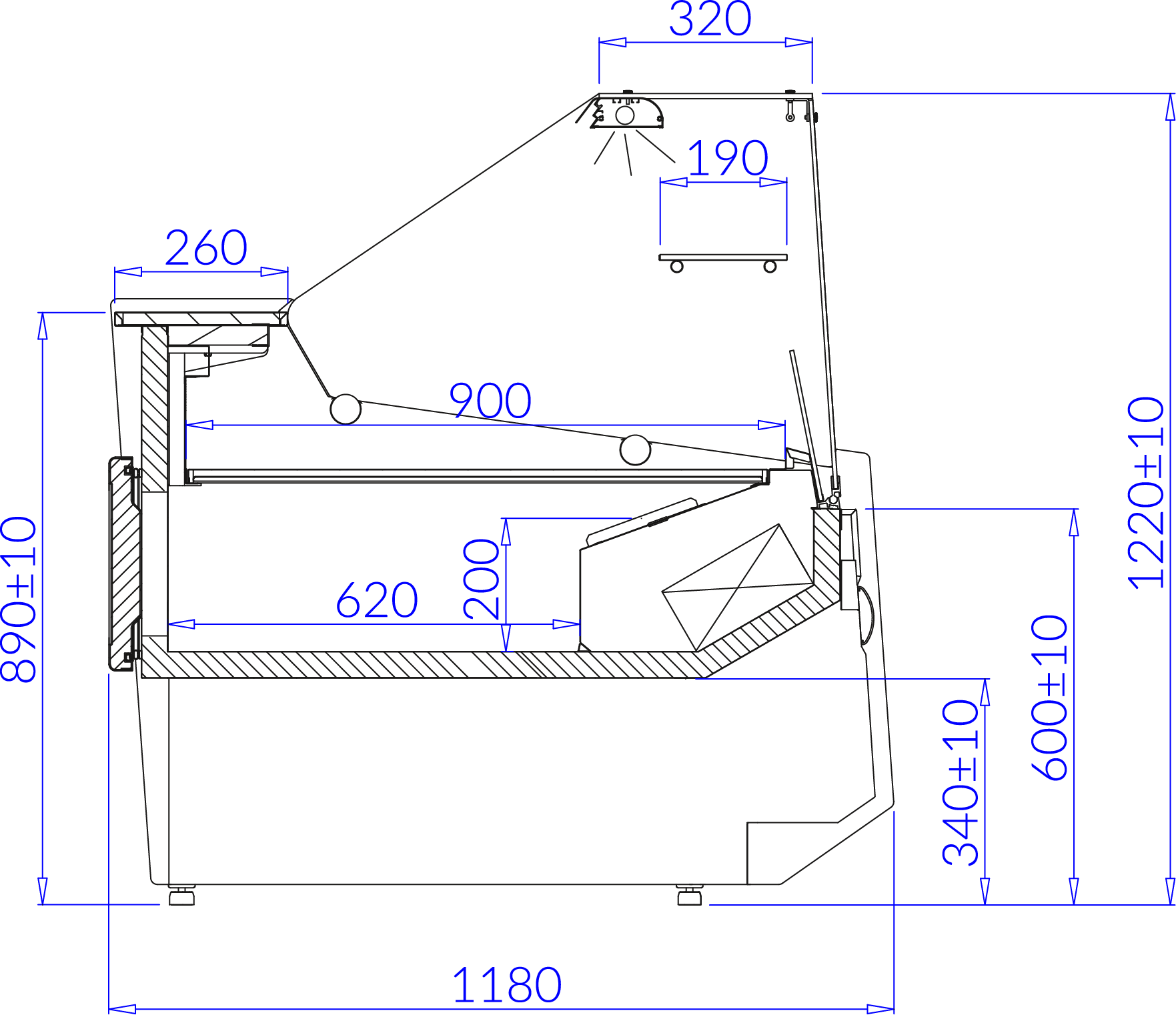 Technical drawing LUZON DEEP