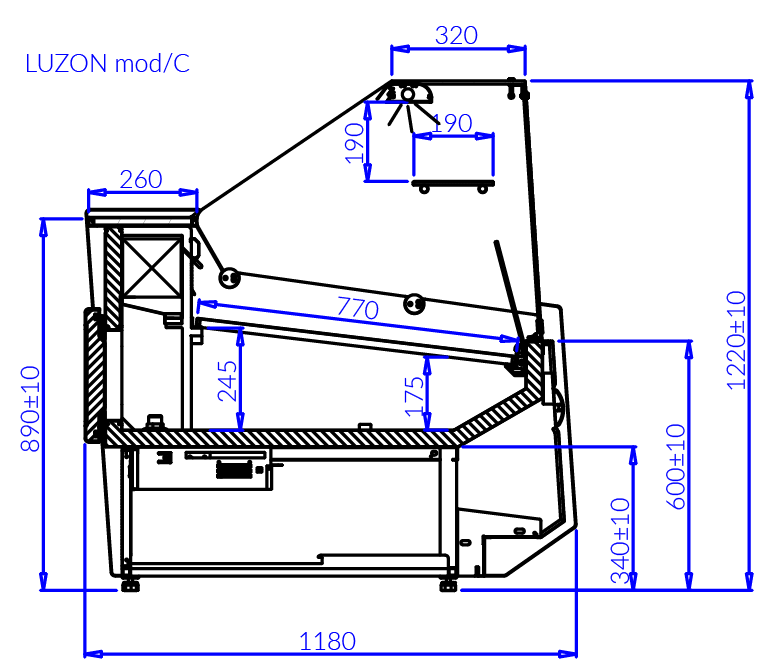 Technical drawing LUZON MOD C