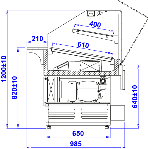 Technical drawing PASTELLA W
