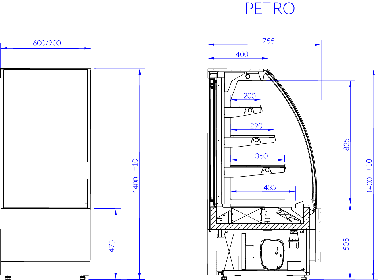 Technical drawing PETRO