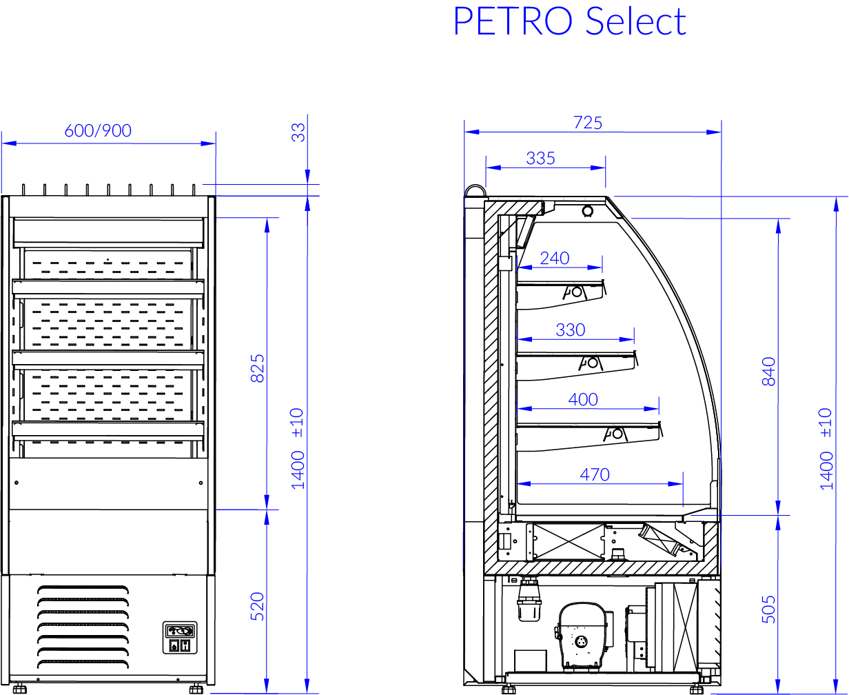 Technical drawing PETRO SELECT