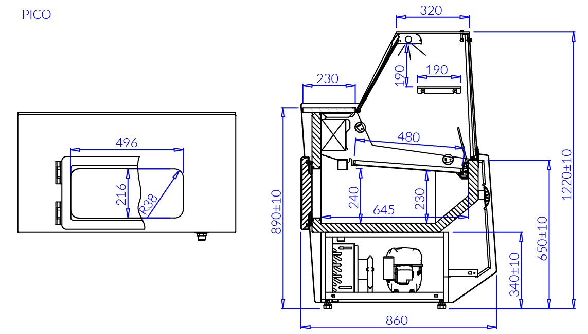 Technical drawing PICO
