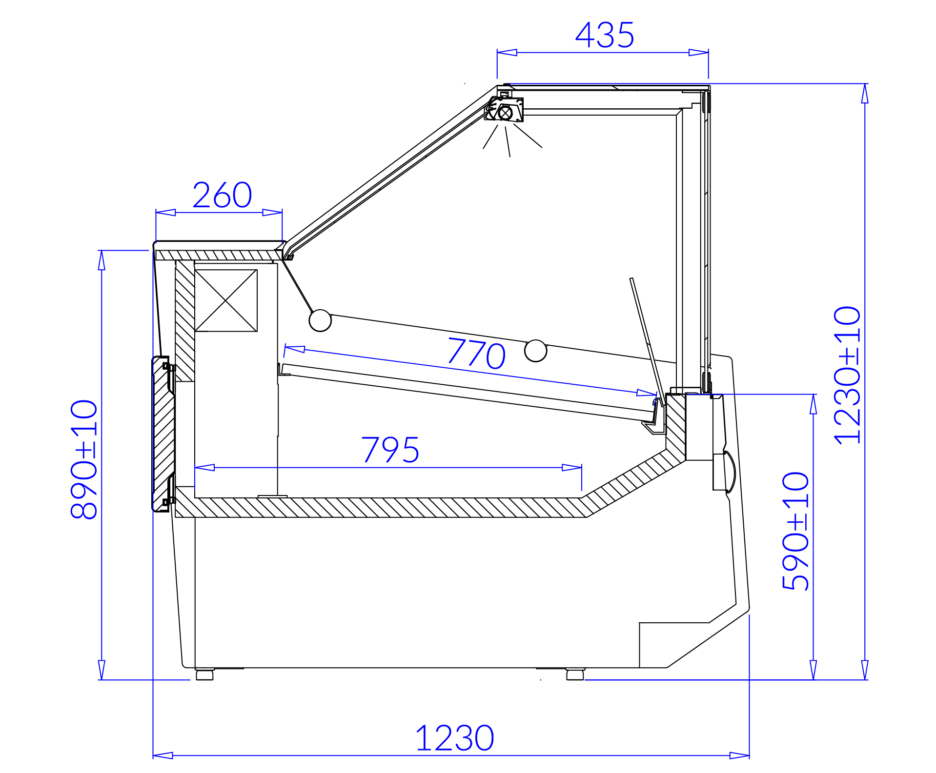 Technical drawing SAMOS–MOD/C SAMOS MOD C