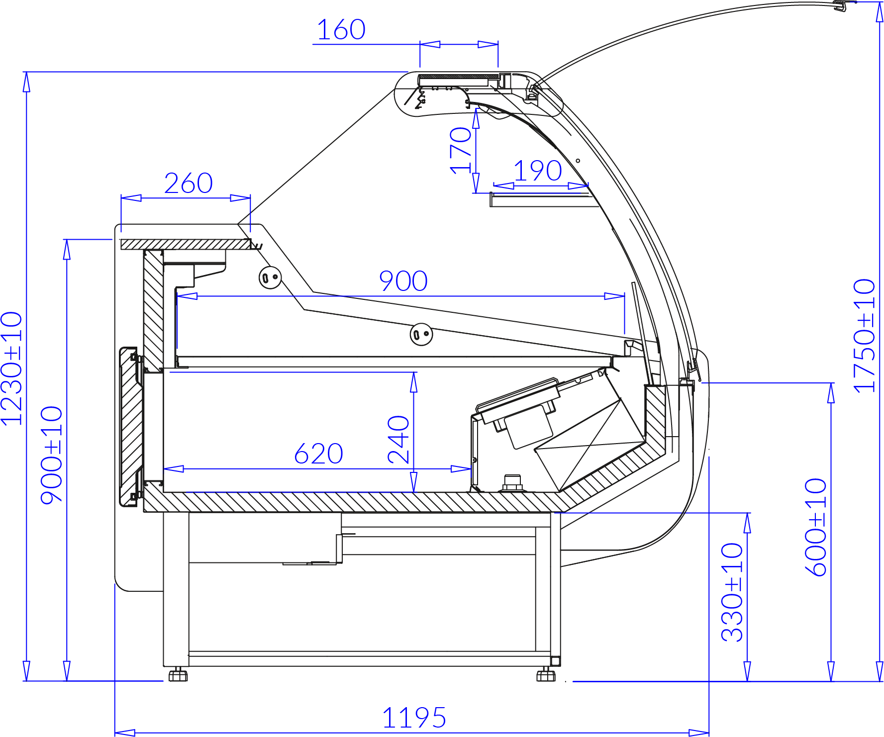 Technical drawing SANTIAGO DEEP