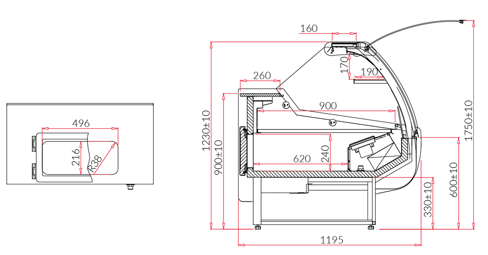 Technical drawing SANTIAGO DEEP MOD C