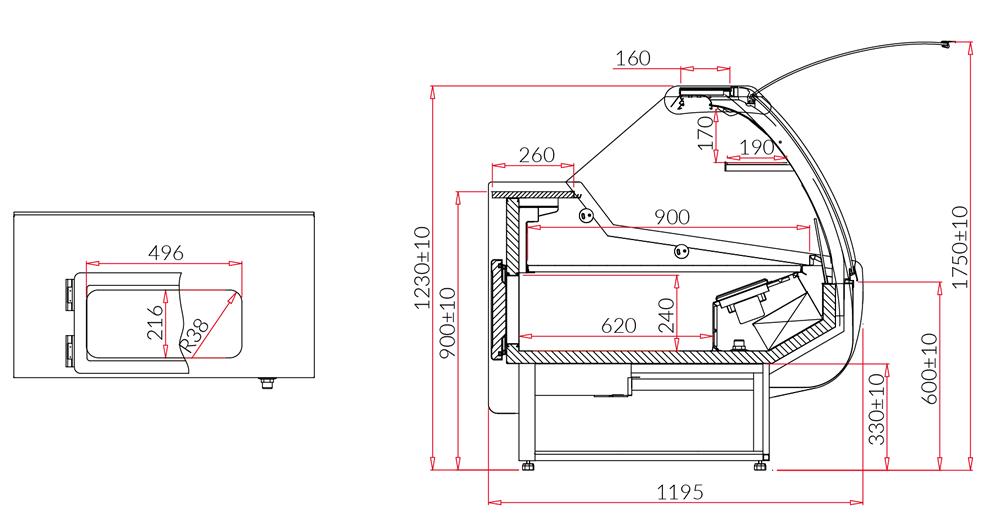 Technical drawing SANTIAGO DEEP MOD C