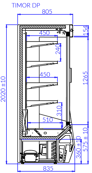 Technical drawing TIMOR DP TIMOR DP