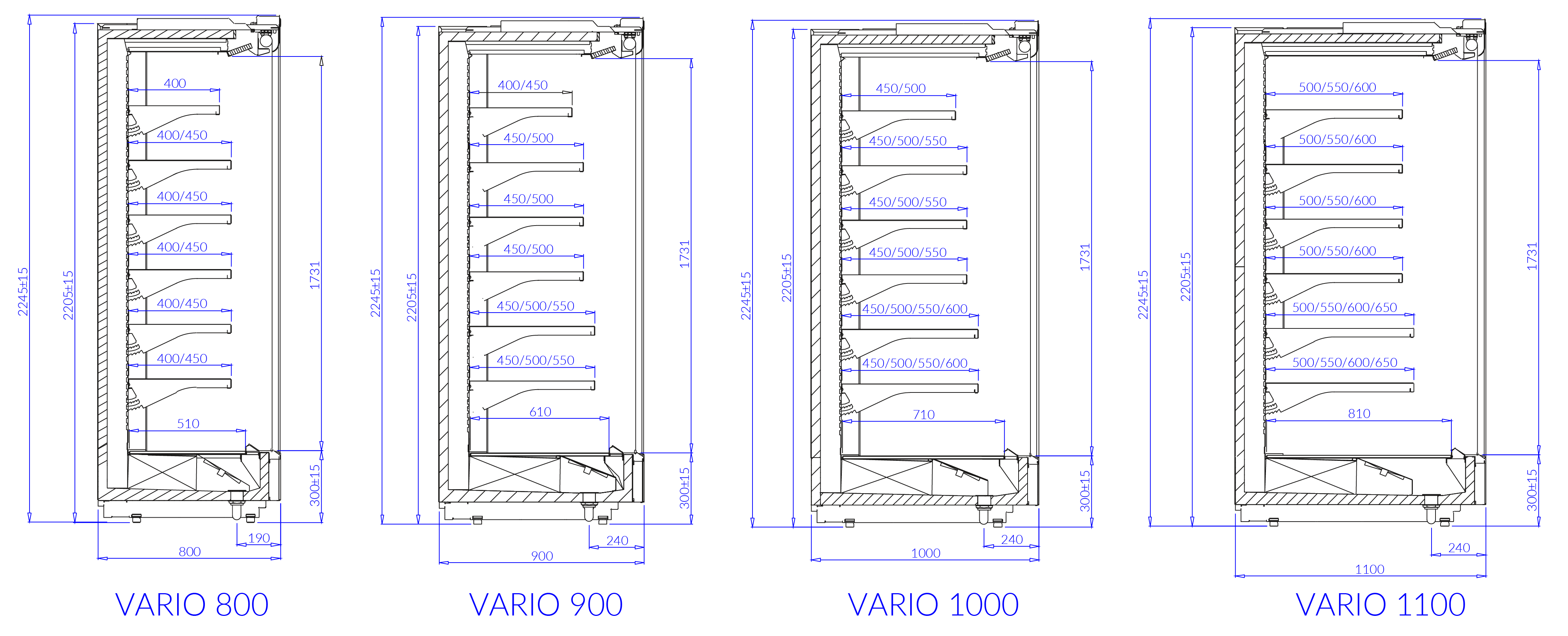 Technical drawing VARIO H