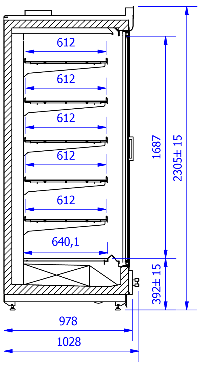 Technical drawing VARIO M H
