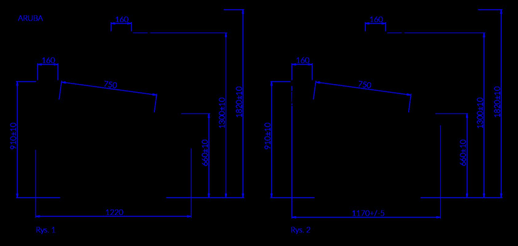 Технический чертеж ARUBA