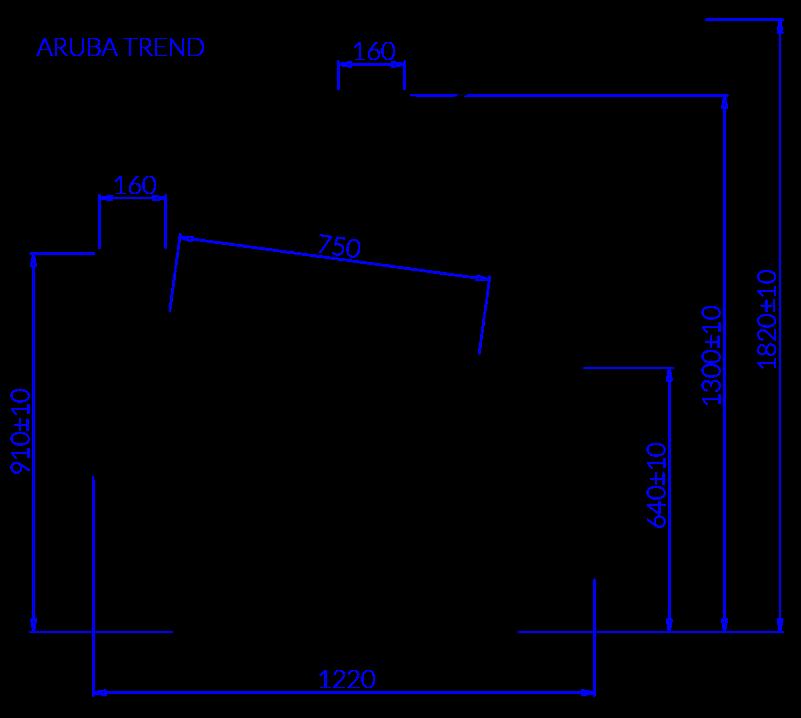Технический чертеж ARUBA TREND