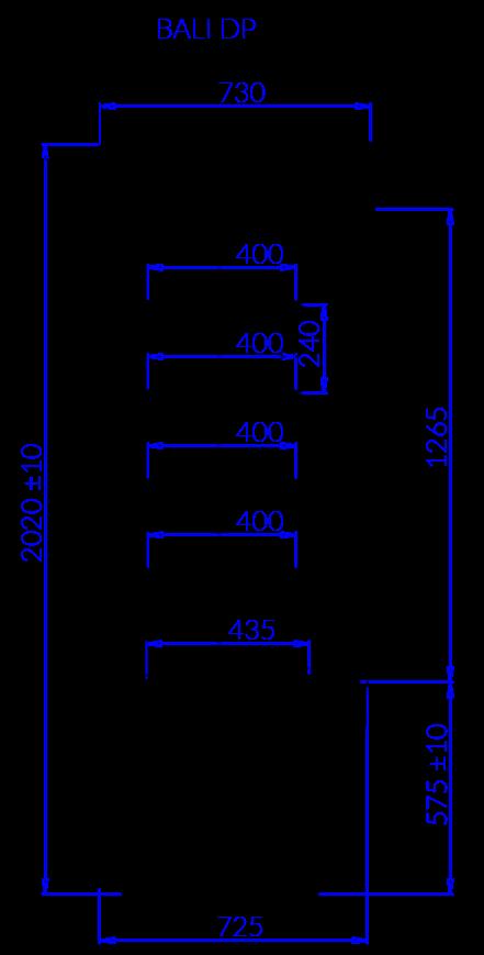Технический чертеж BALI DP