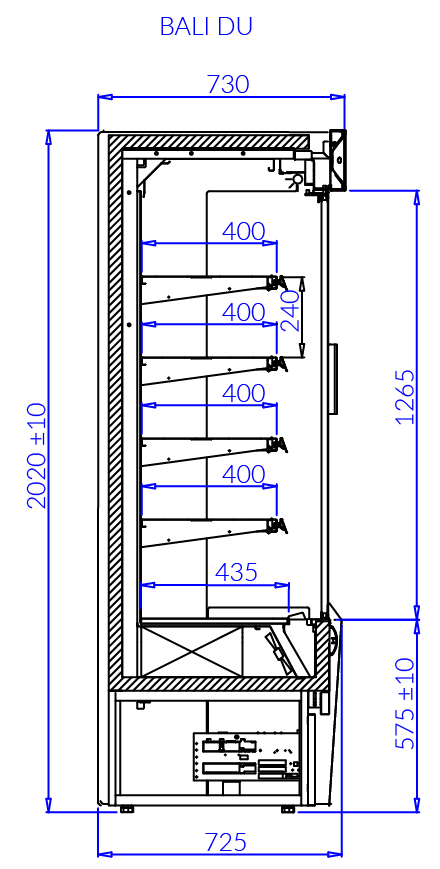 Технический чертеж BALI DU