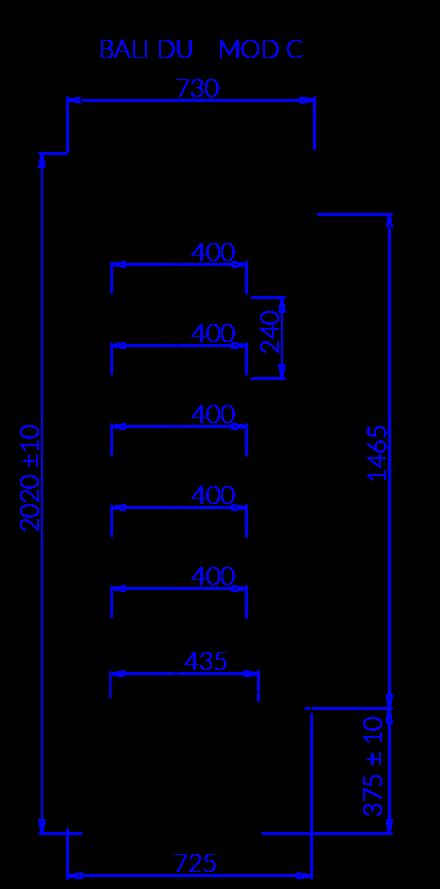 Технический чертеж BALI DU MOD C