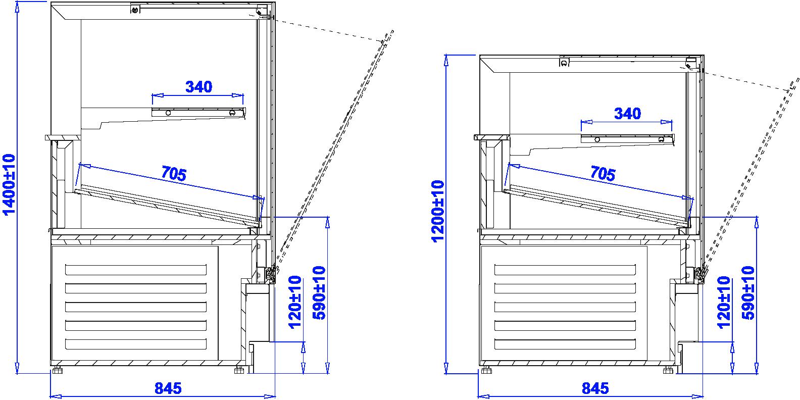 Технический чертеж CUBE 2 BAKE
