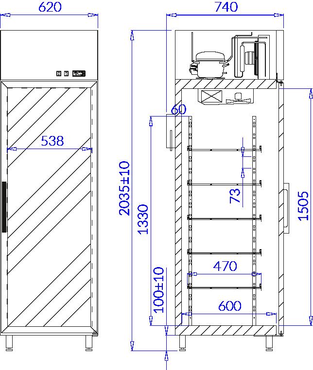 Технический чертеж EWA 1 AG