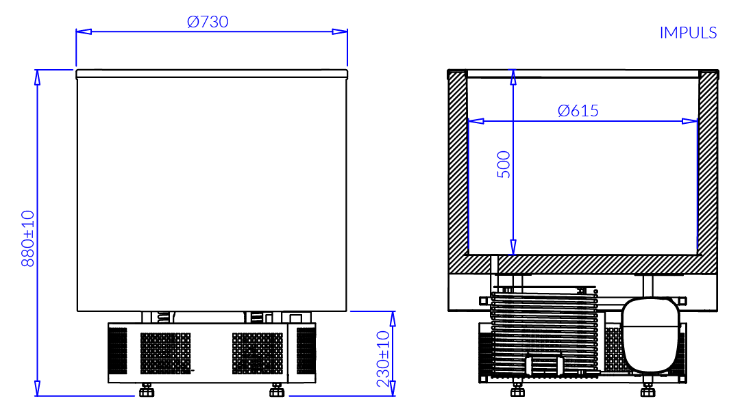 Технический чертеж IMPULS