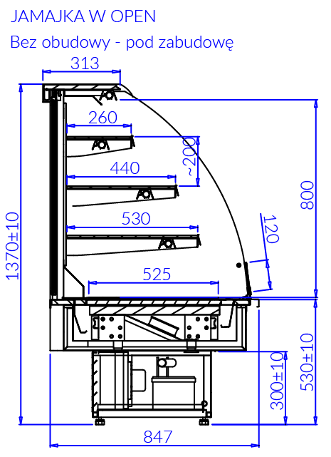 Технический чертеж JAMAJKA W OPEN MOD C