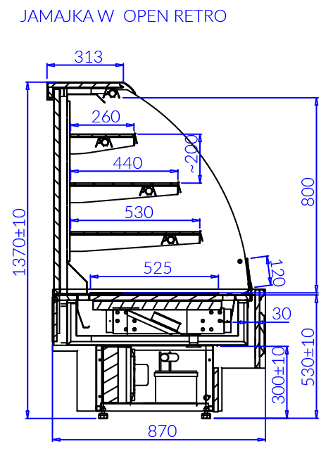 Технический чертеж JAMAJKA W OPEN RETRO