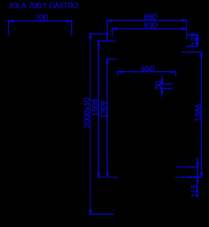 Технический чертеж JOLA 1 GASTRO