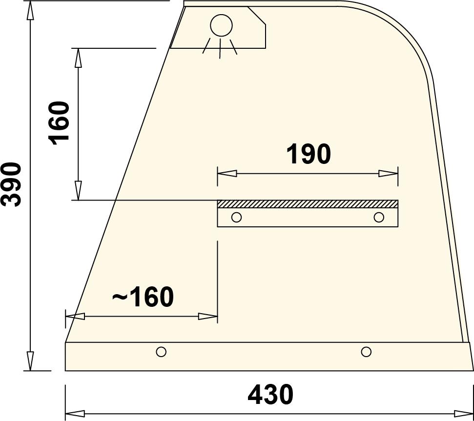 Технический чертеж JULIA NADSTAWKA