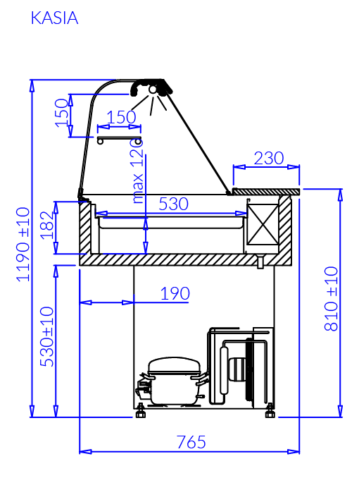 Технический чертеж KASIA