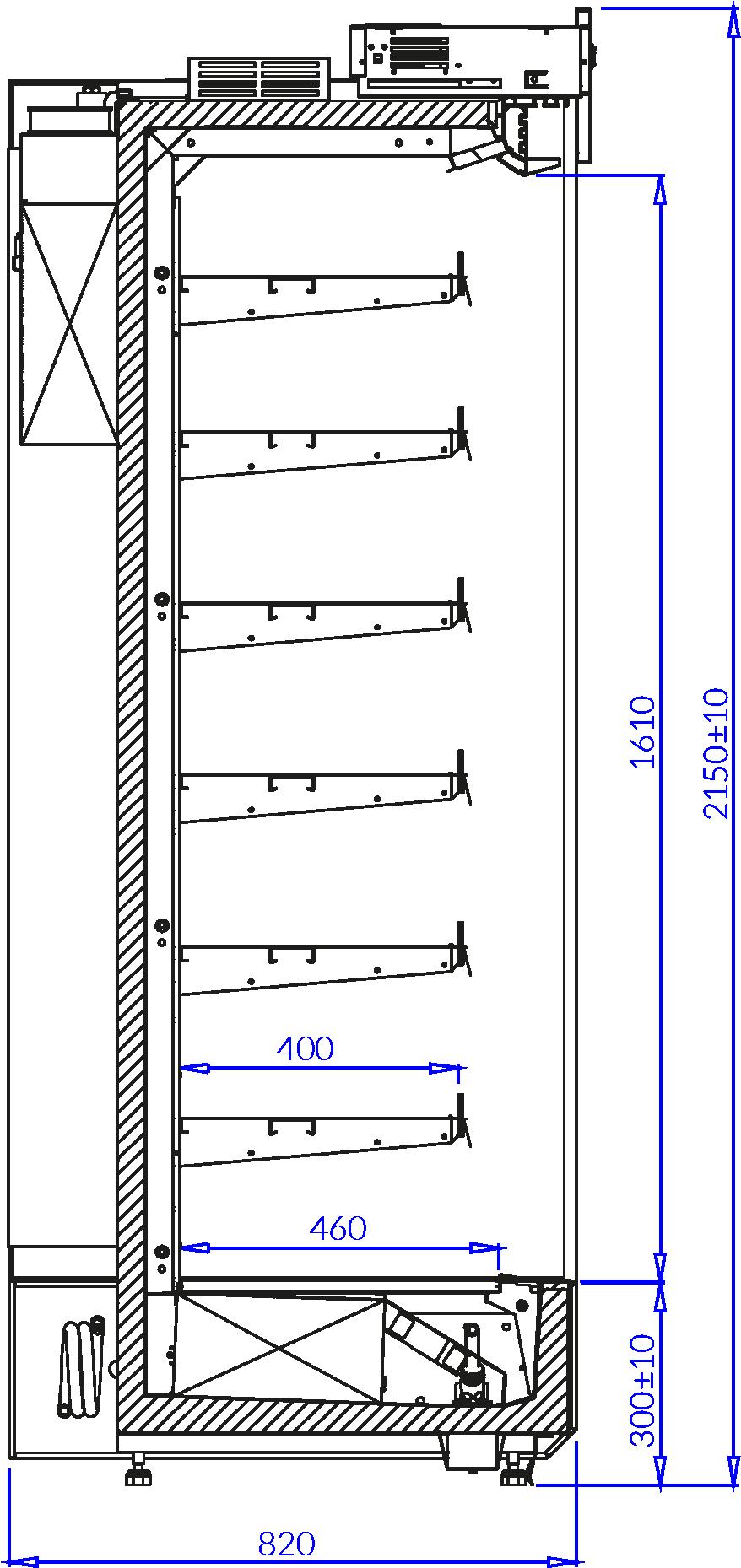 Технический чертеж KING EVO