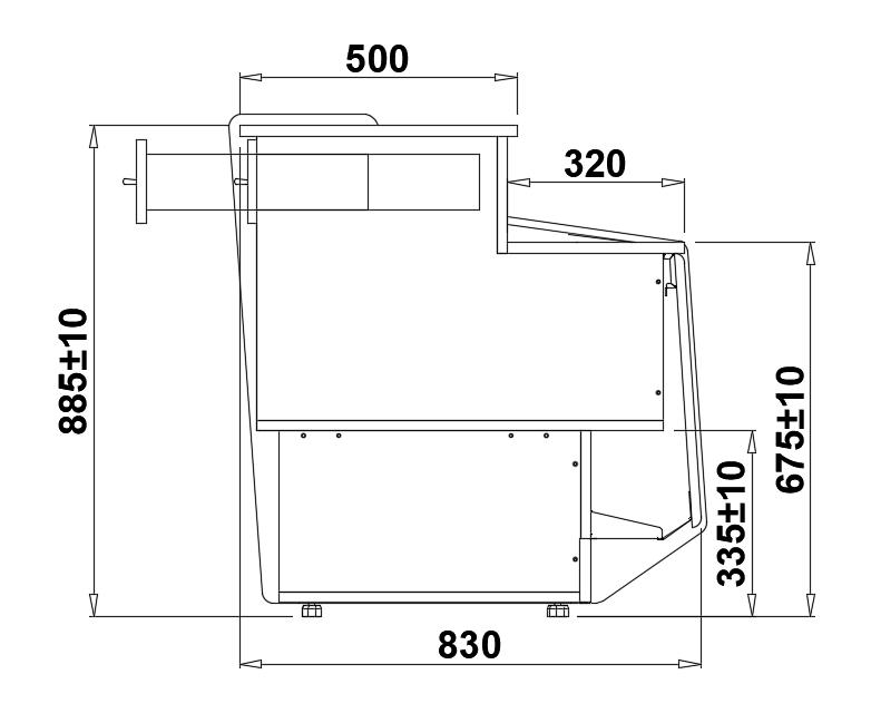 Технический чертеж LADA PICO DRE