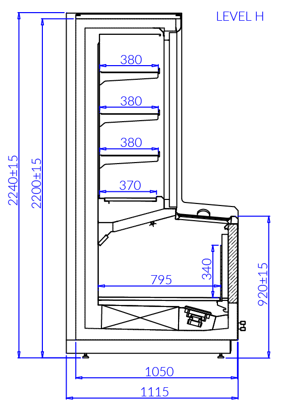 Технический чертеж LEVEL H