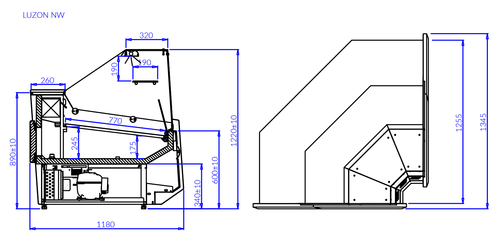 Технический чертеж LUZON NW90
