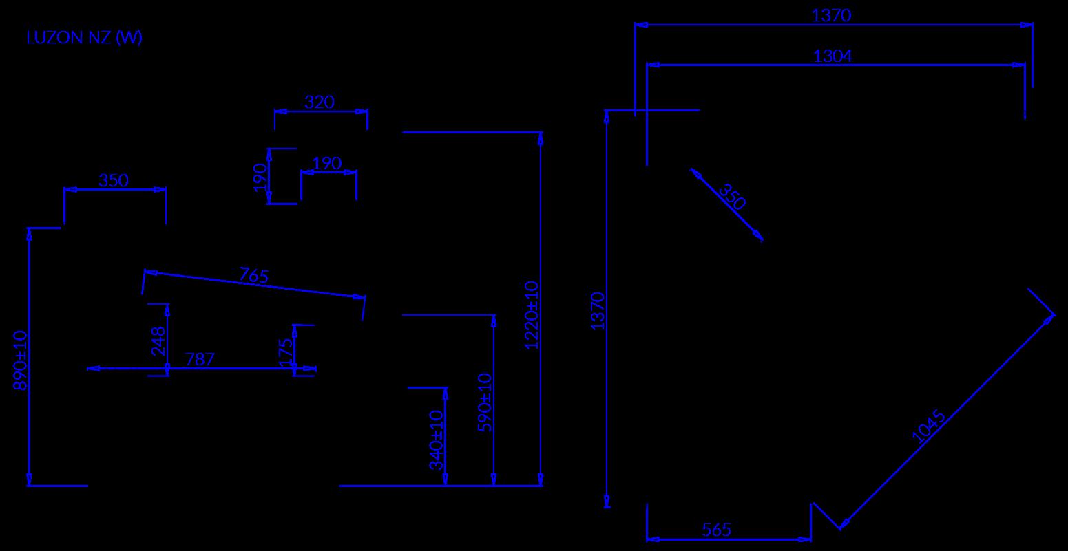 Технический чертеж LUZON NZ90