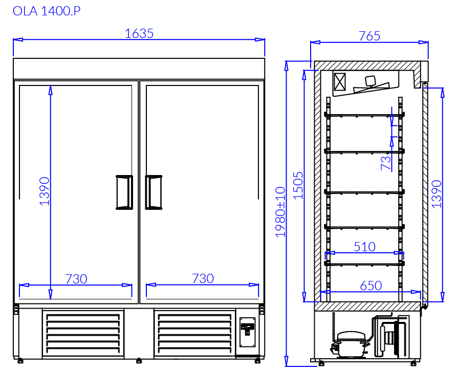 Технический чертеж OLA P