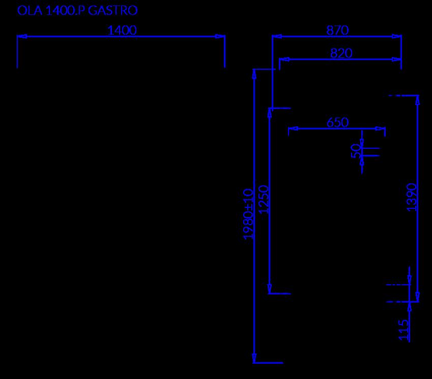 Технический чертеж OLA P GASTRO