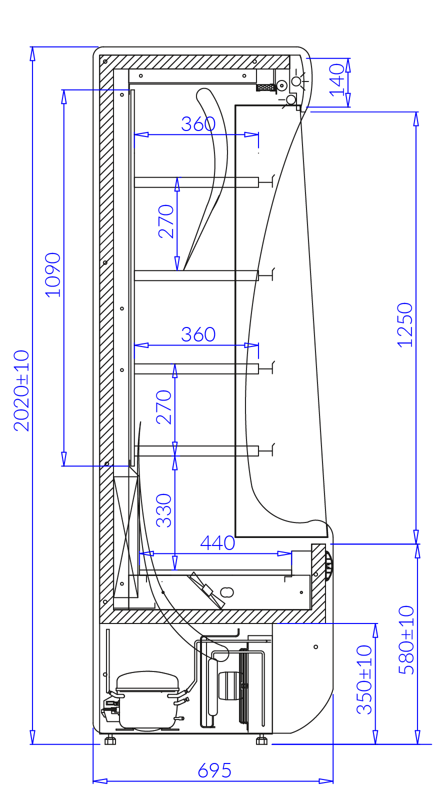 Технический чертеж PAROS