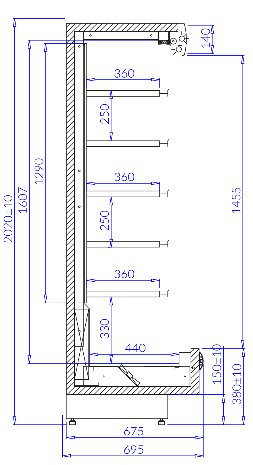Технический чертеж PAROS MOD C