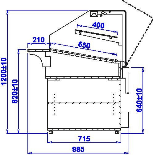 Технический чертеж Кондитерские витрины PASTELLA N
