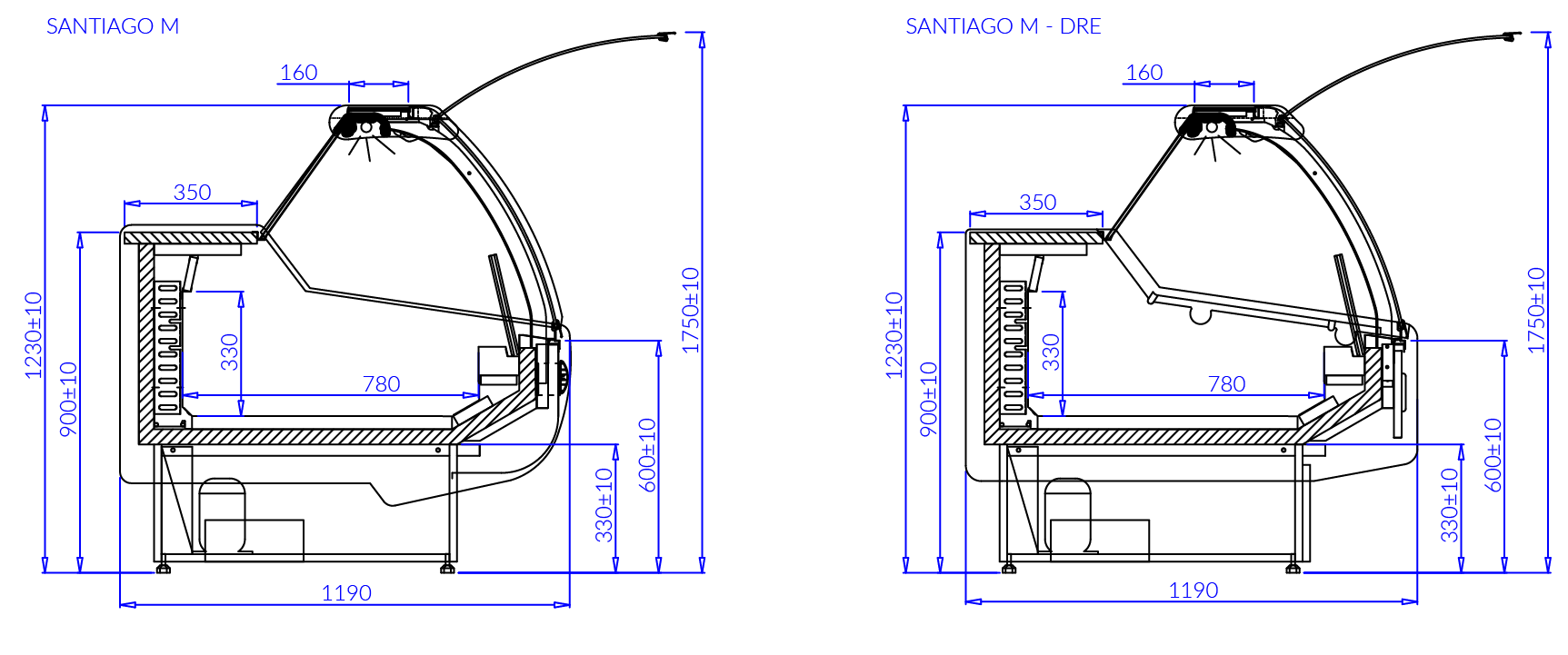 Технический чертеж SANTIAGO M