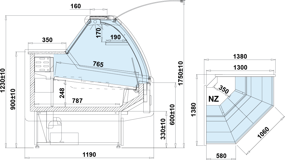 Технический чертеж SANTIAGO NZ W DRE