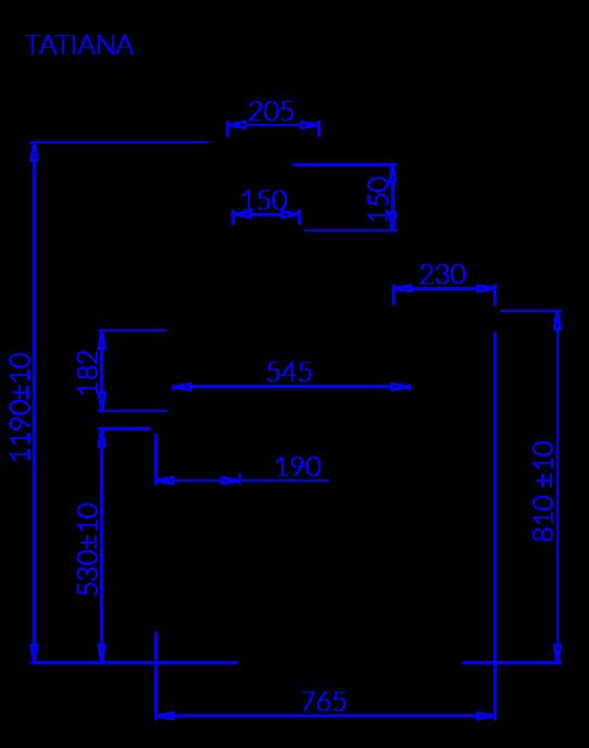 Технический чертеж TATIANA