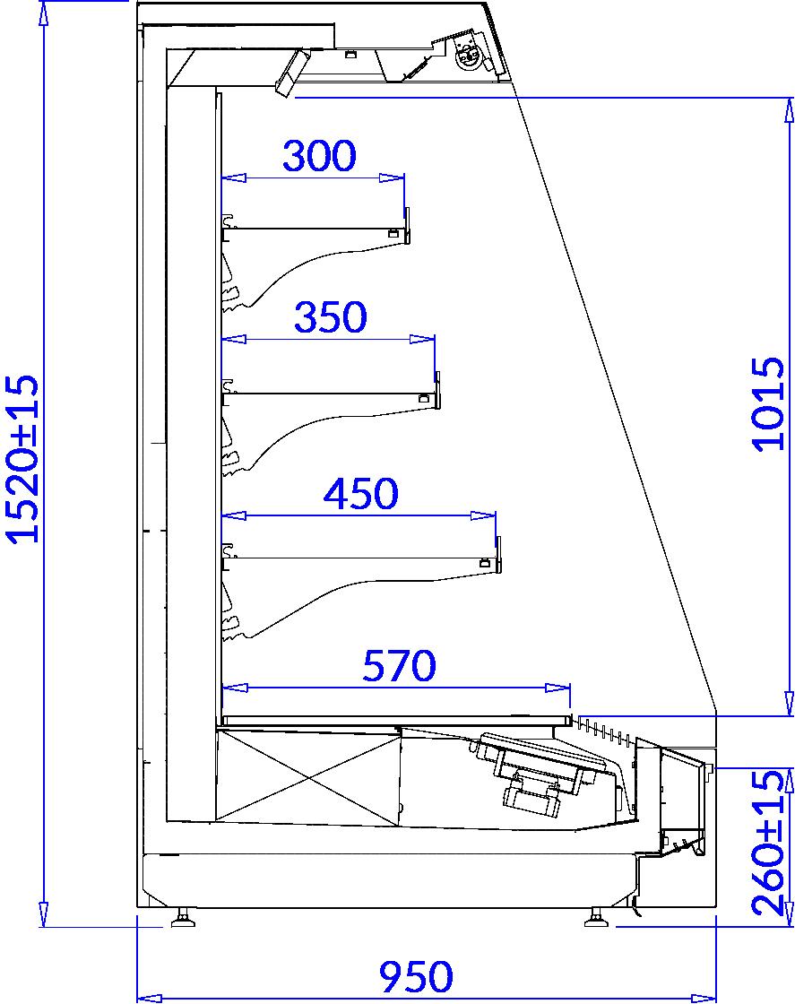 Технический чертеж TOBAGO 3